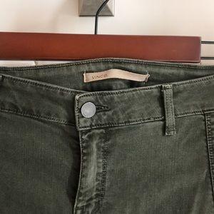 Vince skinny army pants